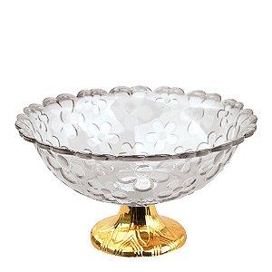 Fruteira Acrílica Gold Modelo Flor Zein - 28 X 12cm