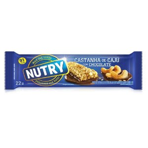 Barrinha de Cereal Nutry Sabor Castanha de Caju com Chocolate 22g - 1 Unidade