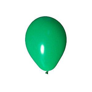"""Balão Bexiga Lisa Verde Bandeira 6,5"""" 15cm - 20 Unidades"""