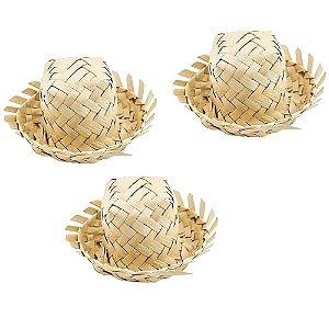 Mini Chapéu de Palha para Lembrancinhas - 5 Unidades