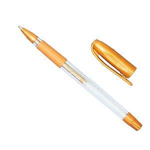 Caneta Gel Brilho cor Dourada Jocar Office - 1 Unidade