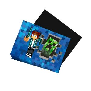 8 Imãs de Geladeira Authentic Games Minecraft 74x105mm