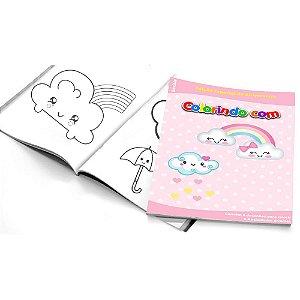 5 Cadernos de Colorir Chuva de Amor Menina