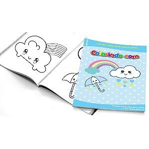 5 Cadernos de Colorir Chuva de Amor Menino