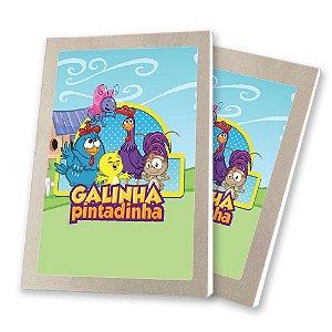 5 Bloquinhos de Papel 25 Folhas Galinha Pintadinha 10,5x7,5cm