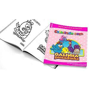 5 Cadernos de Colorir Galinha Pintadinha Rosa