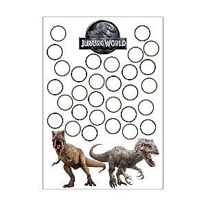 Quadro de Assinaturas e Digitais Jurassic World 30x43cm - 1 Unidade