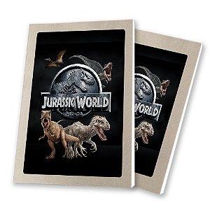 5 Bloquinhos de Papel 25 Folhas Jurassic World 10,5x7,5cm
