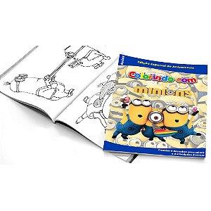 5 Cadernos de Colorir Minions
