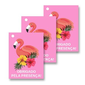 30 Tags Flamingo Abacaxi 4x3cm