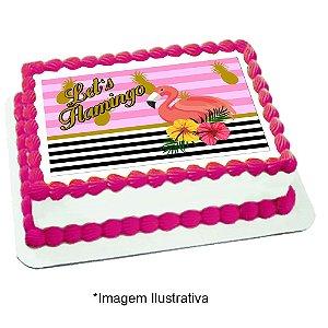 Papel de Arroz Flamingo Abacaxi 28x20cm - 1 Unidade
