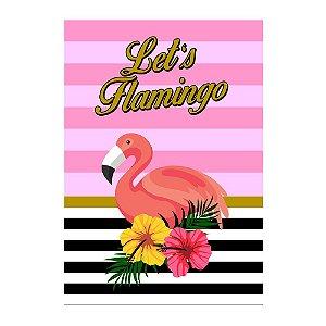 Poster Flamingo Abacaxi 30x43 - 1 Unidade