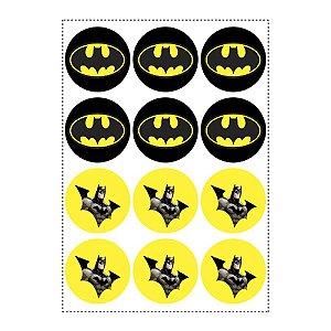 12 Adesivos Batman Geek Redondo 6,5cm
