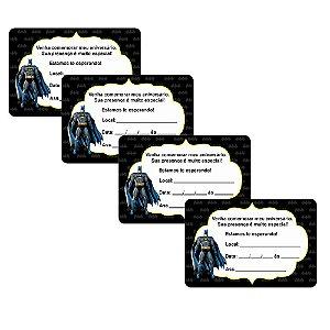 8 Convites Batman Geek 7x10cm