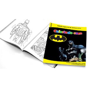 5 Cadernos de Colorir Batman Geek