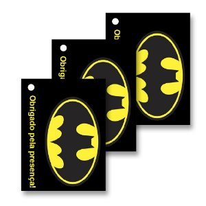 30 Tags Batman Geek 4x3cm