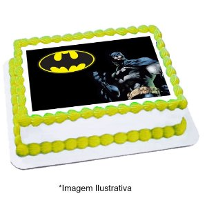 Papel de Arroz Batman Geek 28x20cm - 1 Unidade