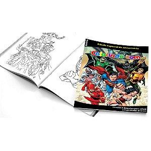 5 Cadernos de Colorir Liga da Justiça