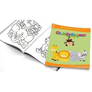5 Cadernos de Colorir Safari