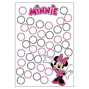 Quadro de Assinaturas e Digitais Minnie Rosa 30x43cm - 1 Unidade