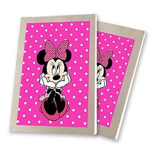 5 Bloquinhos de Papel 25 Folhas Minnie Rosa 10,5x7,5cm