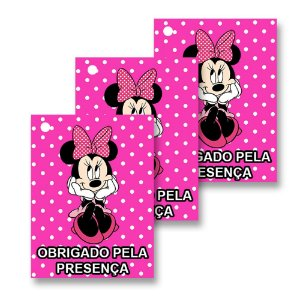 30 Tags Minnie Rosa 4x3cm