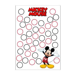 Quadro de Assinaturas e Digitais Mickey 30x43cm - 1 Unidade