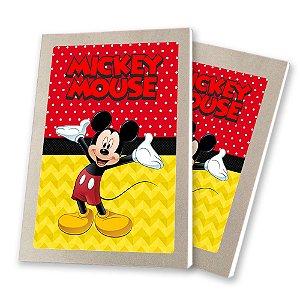 5 Bloquinhos de Papel 25 Folhas Mickey 10,5x7,5cm