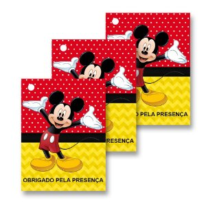 30 Tags Mickey 4x3cm