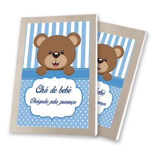 5 Bloquinhos de Papel 25 Folhas Chá de Bebê Azul 10,5x7,5cm