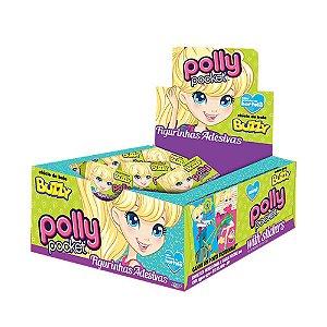 Chiclete Polly Pocket Buzzy Hortelã 400g - Caixa com 100 unidades
