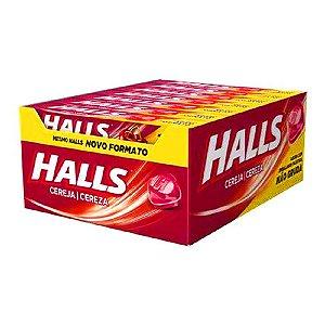 Bala Halls Cereja 588g - Caixa com 21 Unidades