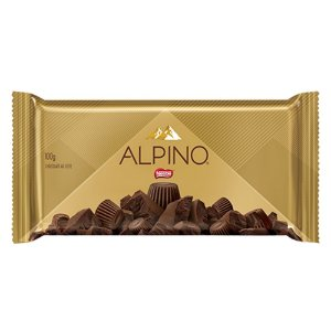 Barra de Chocolate Alpino ao Leite 100g