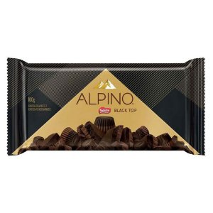 Barra de Chocolate Alpino Meio Amargo Black Top 100g