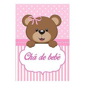 Poster Chá de Bebê Rosa 30x43 - 1 Unidade