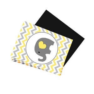8 Imãs de Geladeira Chá de Bebê Amarelo 74x105mm