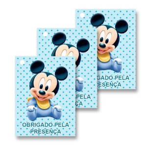 30 Tags Mickey Baby 4x3cm