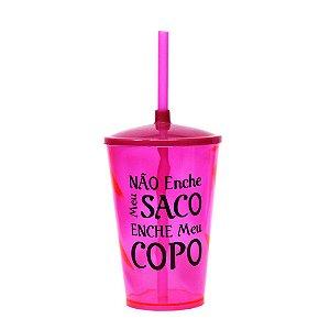 Copo Twister 500ml Colorido Personalizado em Preto - 30 Unidades