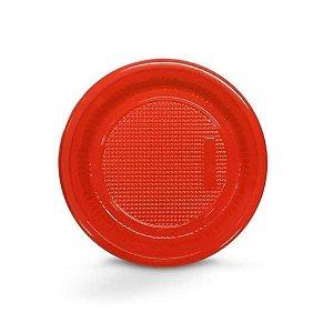 Prato Descartável 15cm Vermelho 10 Unidades