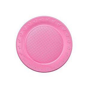 Prato Descartável 15cm Rosa 10 Unidades