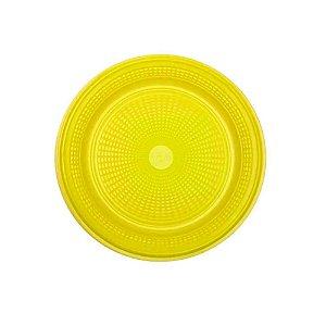 Prato Descartável 15cm Amarelo 10 Unidades