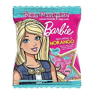 Balas Mastigáveis Barbie Sabor Morango - 600g