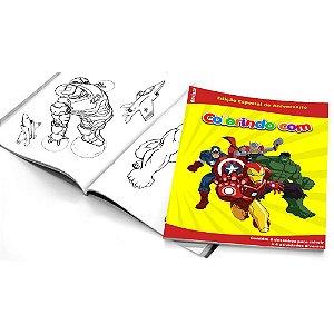 5 Cadernos de Colorir Vingadores Desenho