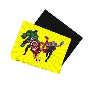 8 Imãs de Geladeira Vingadores Desenho 74x105mm