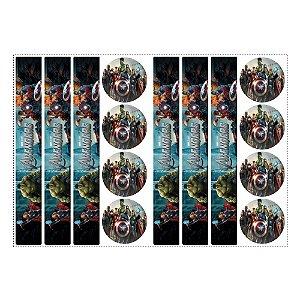 6 Adesivos Vingadores para Pote de Papinha