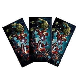 6 Adesivos Vingadores Retangular 20x10cm