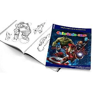 5 Cadernos de Colorir Vingadores