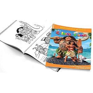 5 Cadernos de Colorir Moana