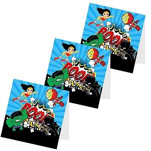 12 Capas de Pirulito Super Heróis Baby