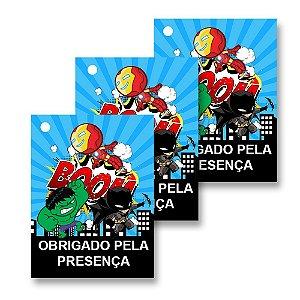 30 Tags Super Heróis Baby 4x3cm